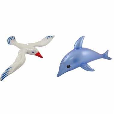 Afgeprijsde 2 stuks opblaasbare zeedieren type 1