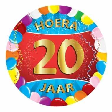 Afgeprijsde 20 jaar verjaardag party viltjes