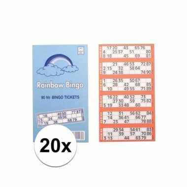 Afgeprijsde 2000x bingokaarten set