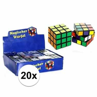 Afgeprijsde 20x puzzels kubus 7 cm cadeautjes