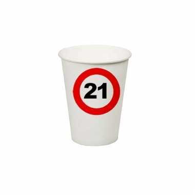 Afgeprijsde 21e verjaardag party bekertjes