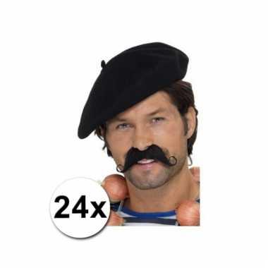 Afgeprijsde 24 franse baretten deluxe