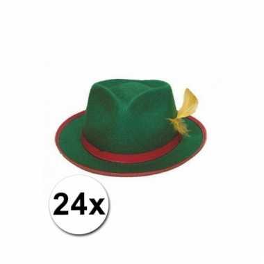 Afgeprijsde 24 tiroler hoeden groen