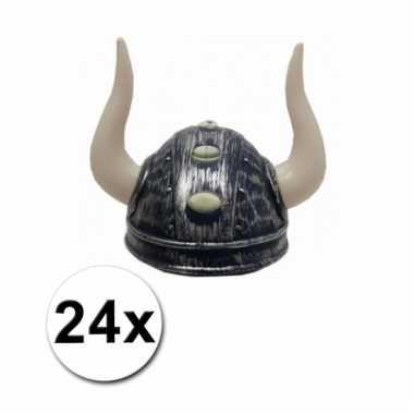 Afgeprijsde 24 viking helmen zilver