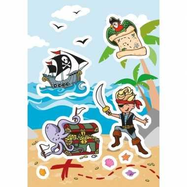 Afgeprijsde 24x piraat stickertjes voor kinderen
