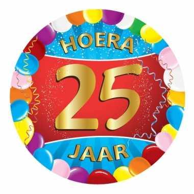Afgeprijsde 25 jaar verjaardag party viltjes
