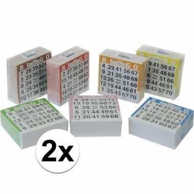 Afgeprijsde 2x bingo blok gekleurd 1-75 500 vellen