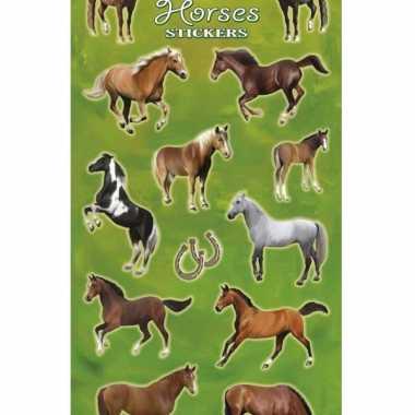 Afgeprijsde 2x velletjes met paarden stickers