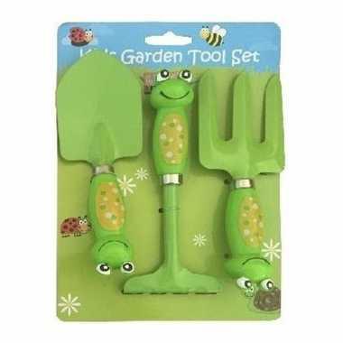 Afgeprijsde 3-delige tuin speelgoedset kikker voor jongens