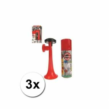 Afgeprijsde 3 gas toeters 70 ml