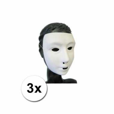 Afgeprijsde 3 grimeer maskers mensen gezicht