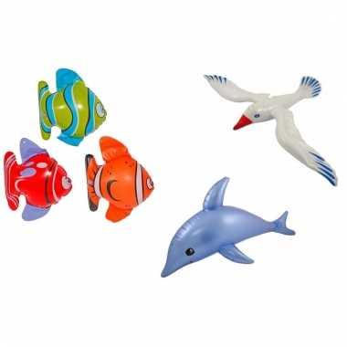 Afgeprijsde 3 stuks opblaasbare zeedieren type 3