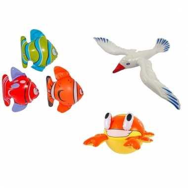 Afgeprijsde 3 stuks opblaasbare zeedieren type 5