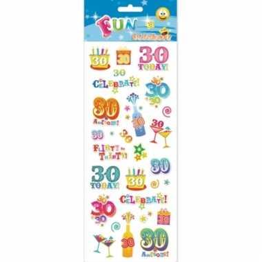 Afgeprijsde 30 jaar geworden stickers