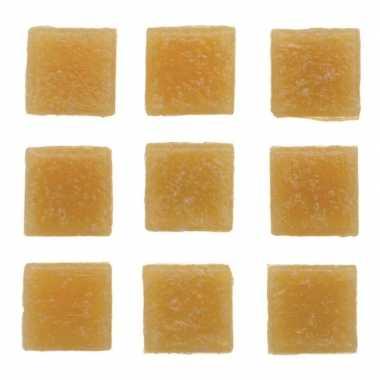 Afgeprijsde 30 stuks vierkante mozaieksteentjes beige 2 cm