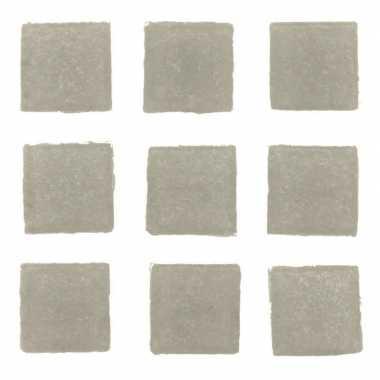 Afgeprijsde 30 stuks vierkante mozaieksteentjes grijs 2 cm