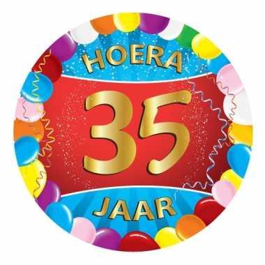 Afgeprijsde 35 jaar verjaardag party viltjes