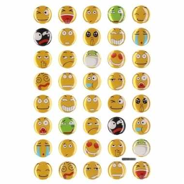 Afgeprijsde 35x emoties smiley stickers op vel
