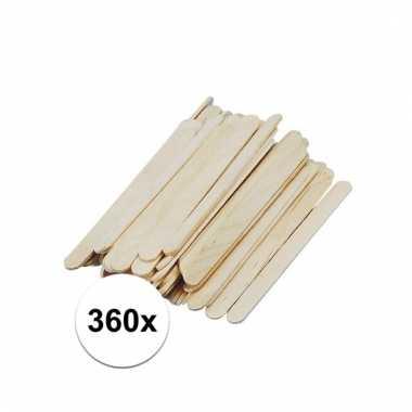 Afgeprijsde 360x houten knutsel stokjes 11 cm