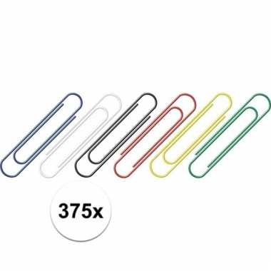 Afgeprijsde 375 stuks handige gekleurde paperclips 375