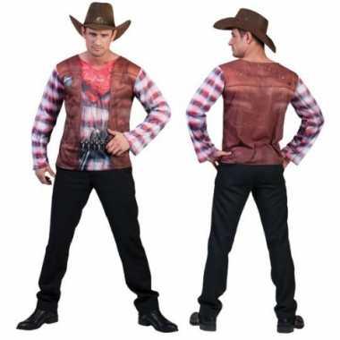 Afgeprijsde 3d western shirt voor heren