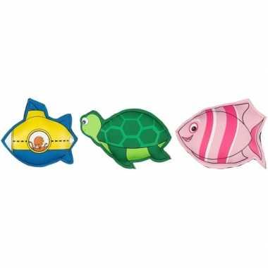 Afgeprijsde 3x duikspeelgoed figuurtjes gekleurd