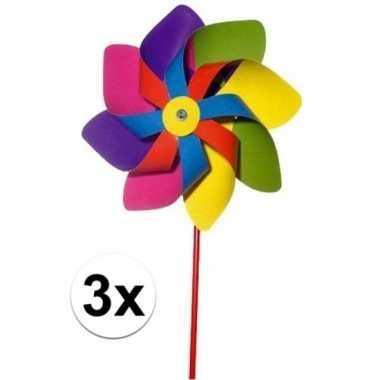 Afgeprijsde 3x kinder windmolens gekleurd