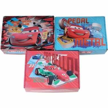 Afgeprijsde 3x kinderkamer rode/blauwe opbergbox/opbergdoos set disne