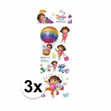 Afgeprijsde 3x poezie album pop-up stickers dora