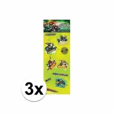 Afgeprijsde 3x poezie album stickers teenage ninja turtles