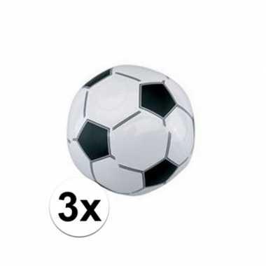 Afgeprijsde 3x voetbal strandballen 30 cm