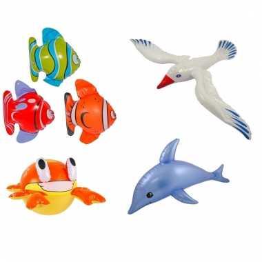 Afgeprijsde 4 stuks opblaasbare zeedieren type 3
