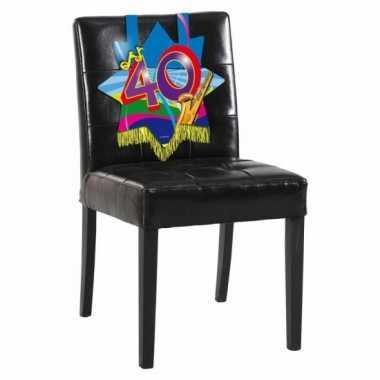 Afgeprijsde 40 jaar decoratiebord voor op een stoel