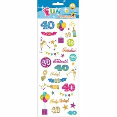 Afgeprijsde 40 jaar geworden stickers