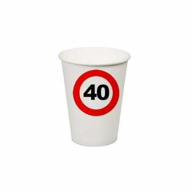 Afgeprijsde 40e verjaardag party bekertjes