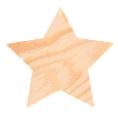 Afgeprijsde 4x knutsel houten sterren 8 cm