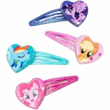 Afgeprijsde 4x my little pony haar speldjes/pins/clips voor meisjes