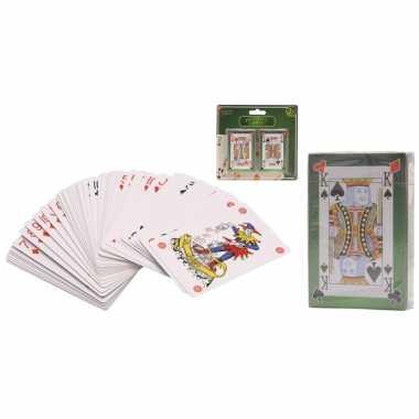 Afgeprijsde 4x stuks pakjes poker kaartsepellen kaarten