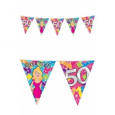 Afgeprijsde 50 jaar feest sarah buiten vlaggetjes