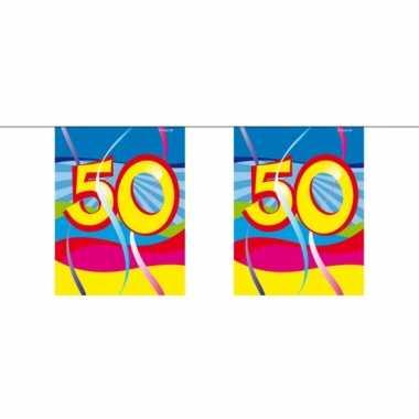 Afgeprijsde 50e verjaardag mini slinger