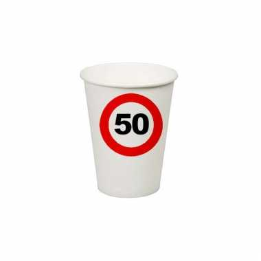 Afgeprijsde 50e verjaardag party bekertjes