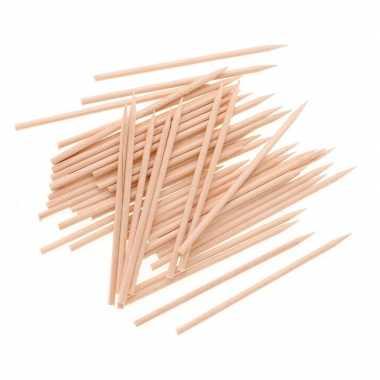 Afgeprijsde 50x hobby houten knutsel spiesen 25 cm