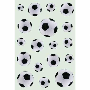 Afgeprijsde 54x zwart/witte voetbal stickertjes voor kinderen