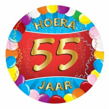 Afgeprijsde 55 jaar verjaardag party viltjes
