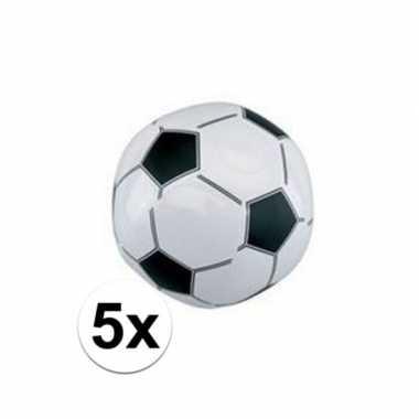 Afgeprijsde 5x voetbal strandballen 30 cm