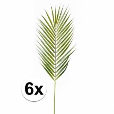Afgeprijsde 6x kunst chamaedorea bladeren 75 cm