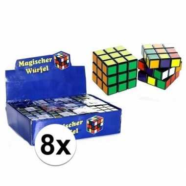 Afgeprijsde 8x puzzels kubus 7 cm cadeautjes