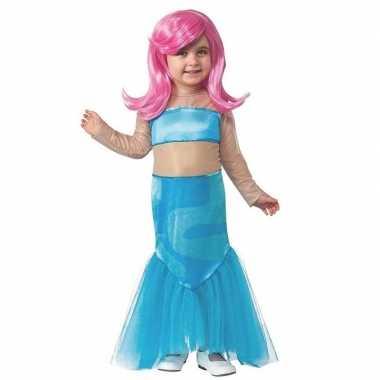 Afgeprijsde blauw zeemeermin jurkje meisjes