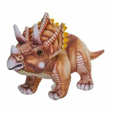 Afgeprijsde bruine triceratops knuffel 43 cm