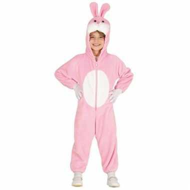 Afgeprijsde carnavalskleding roze konijn/haas voor kinderen